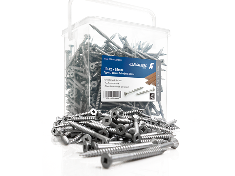 T17 Square Drv Galvanised Deck Screws