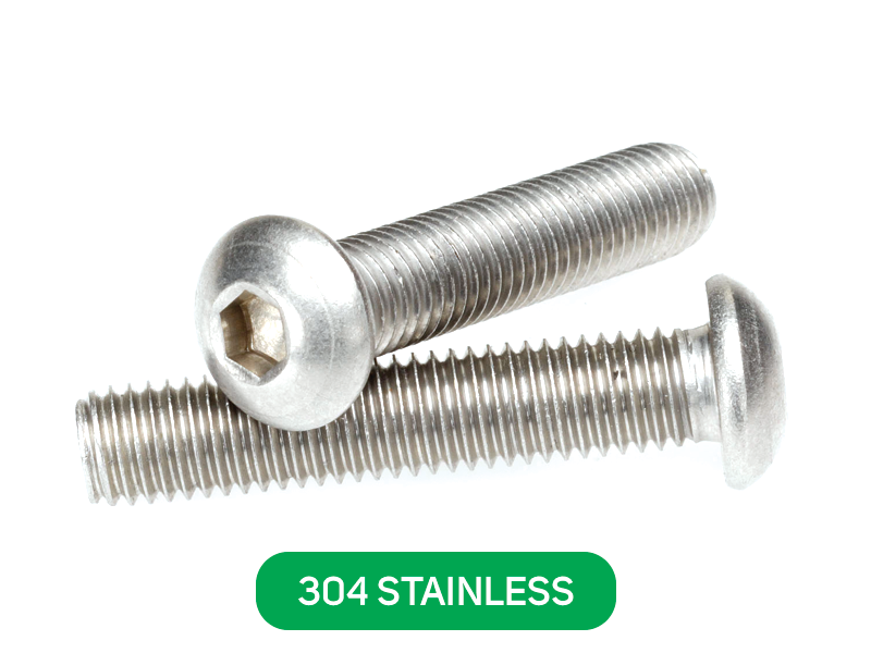 M6 x 35mm Button head socket screw 304 stainless kit QTY 10 bolt//nut//washer