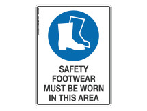Safety Footwear Must Be Worn - Mandatory Sign
