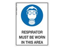 Respirator Must Be Worn - Mandatory Sign