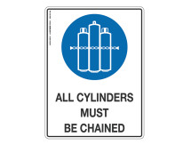 All Cylinders Must Be Changed - Mandatory Sign