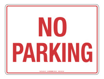 NOTICE No Parking Sign