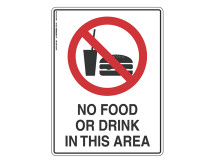No Food Or Drink - Prohibit Sign