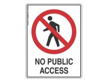 No Public Access - Prohibit Sign