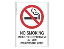 No Smoking Smoke Free Environment - Prohibit Sign