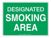 Designated Smoking Area - Prohibit Sign