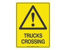 Trucks Crossing - Warning Sign