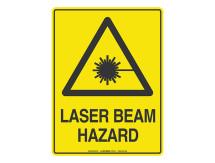 Laser Beam Hazard - Warning Sign