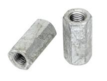 Hex Coupler Nut Metric Galvanised DIN 6334