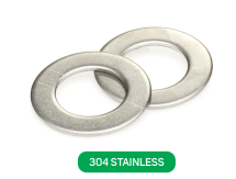 Flat Washer 304 Stainless Metric DIN125A