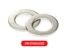 Flat Washer 316 Stainless Metric DIN125A