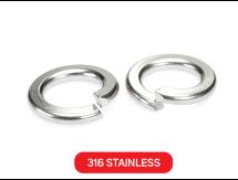 Spring Washer 316 Stainless Metric DIN127B