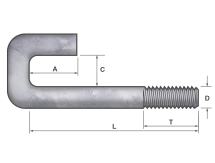 Bent Anchor Bolt – Square Hook