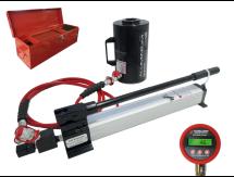 500kN 156mm Stroke Hydraulic Cylinder & Hand Pump Kit HYDRAJAWS®